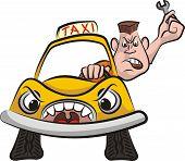 Постер, плакат: taxi driver road rage