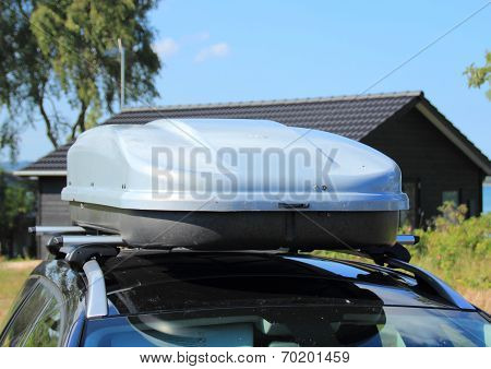 Frontend Of Roof Box On Car