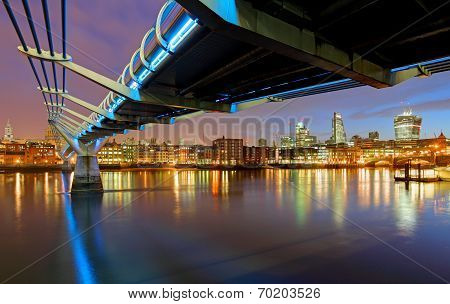 Millenium Bridge In London, England