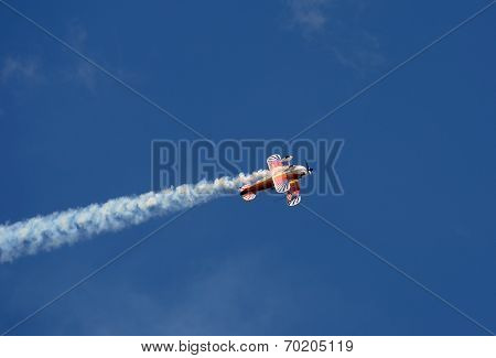 Aerobatic Airplane In Flight