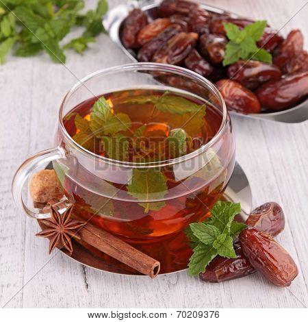 teacup with dried date