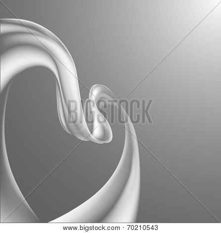 Heart Ribbon Background