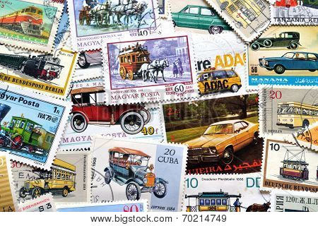Transportation on stamps