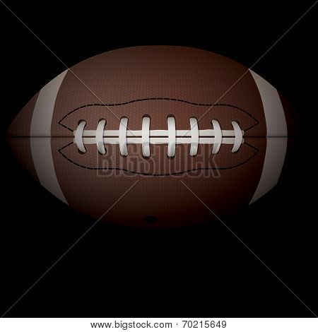Realistic Horizontal American Football Illustration