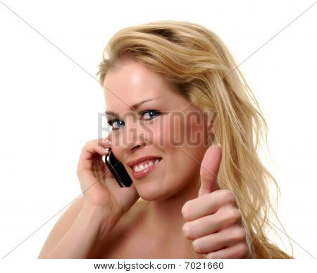Thumbs Up On The Phone