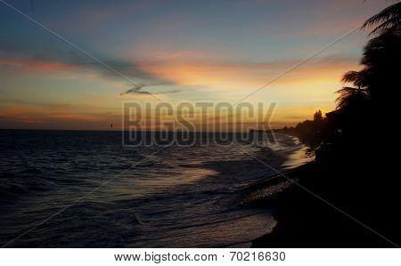a Sunset on the coast