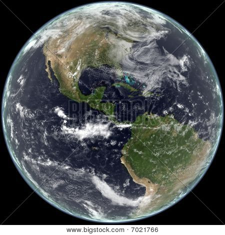 Earth - Centered on North and South America