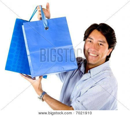 Man With Shopping Bags
