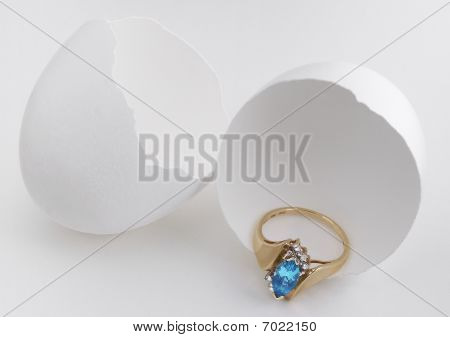 Hatched Egg With Ring Treasure