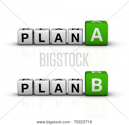 plan A and B icon (green-white crossword series)