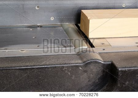 The image of a woodworking planing machine