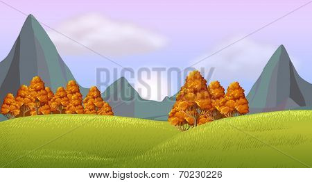 Illustration of a view of the beautiful nature