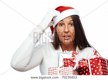 Christmas Woman Stressed Out