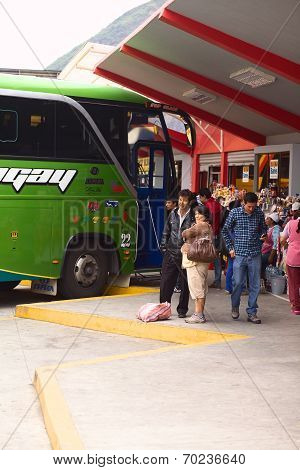 Bus Terminal in Banos, Ecuador