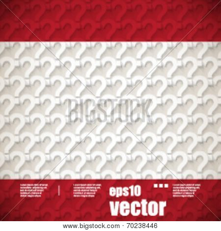 eps10 vector question mark seamless pattern background
