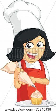 Cupcake Baker Mascot