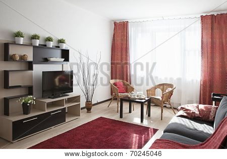 Interior Shot Of A Modern Living Room