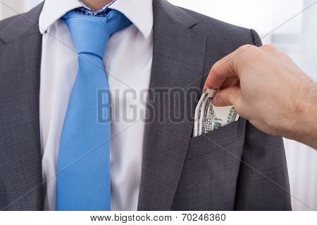 Hand Bribing Businessman