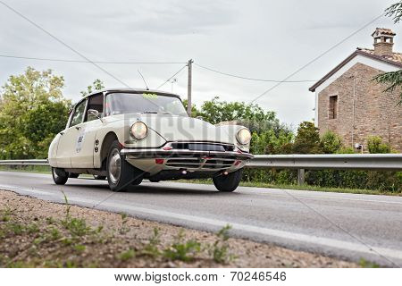 Citroen Ds19 (1957) In Rally Mille Miglia 2013