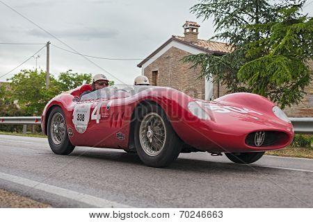 Maserati 200 Si (1957) Runs In Mille Miglia 2013