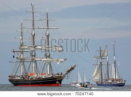 Old sailing ships at Hansesail 2014 (04)
