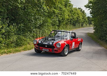 Vintage Racing Car Fiat 124 Abarth (1973)