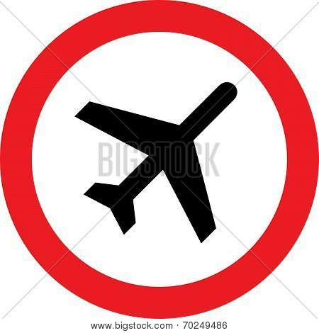 No airplane sign