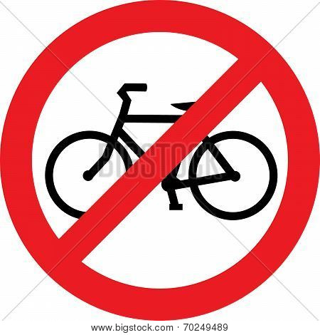 No bicycle sign