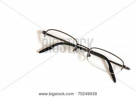 Frameless Glasses On White