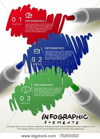 Creative Template With Mark Pen Writing Something Infographic