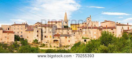 Panoramic view of Bale village, Croatia.