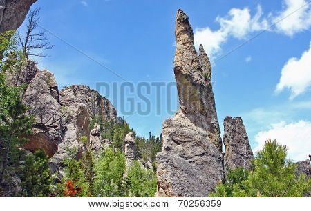 Needle rock formation