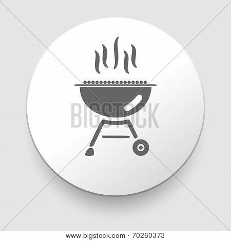 Grill and barbeque related vector icon