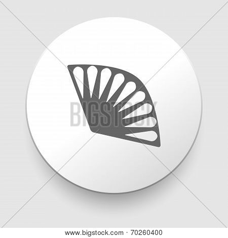 vintage fan icon on white background