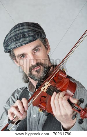 Irish Man Playing Fiddle