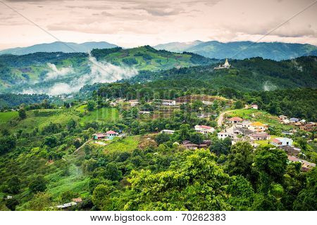 Natural Landscape View Of Doi Mae Salong In Chiangrai Province, Thailand