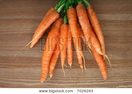 Bunch Of Organic Carrots
