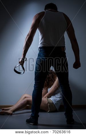 Strong Husband Beating Wife