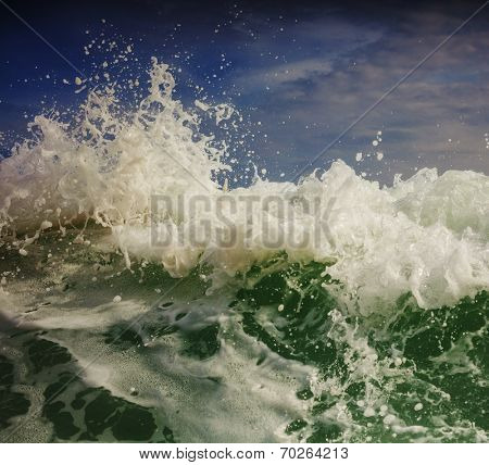 Wave on the beach