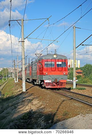 Electric Train Russian Railways In Moscow
