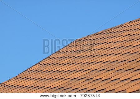 Roof Of Bituminous Tiles.