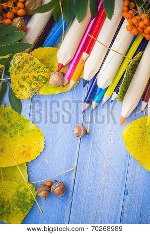 Vintage Background Concept Autumn Back School