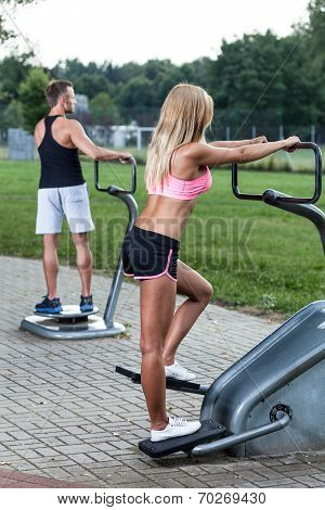 Training On The Outdoor Gym