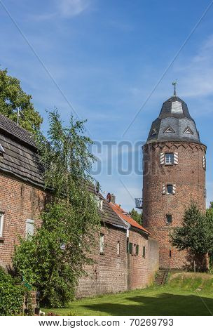 Mill Tower In The  Historic Center Of Kranenburg