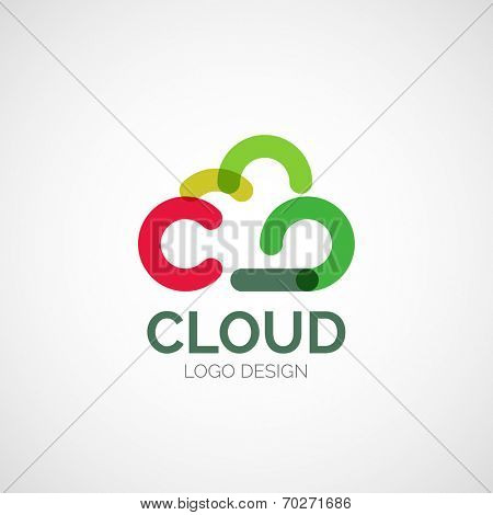 Vector abstract company logo design, business symbol concept, modern line design