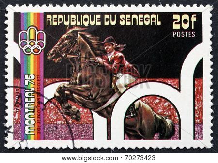 Postage Stamp Senegal 1976 Equestrian