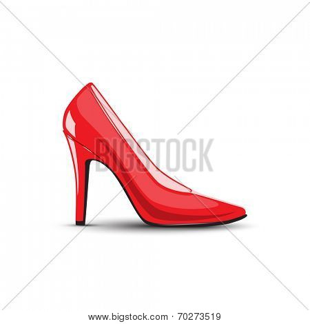 women's high heel red shoes