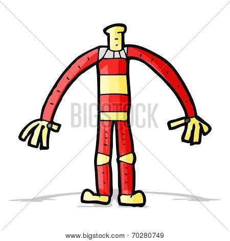 cartoon robot body (mix and match cartoons or add own photo head)