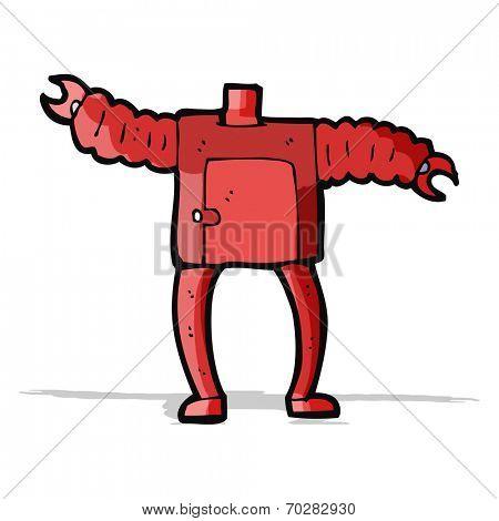 cartoon robot body (mix and match cartoons or add own photos)