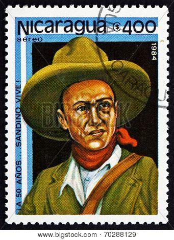 Postage Stamp Nicaragua 1984 Augusto Cesar Sandino, Revolutionary